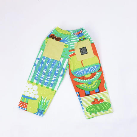 Bi TANSAN Pants 「Welcome Fruits」green
