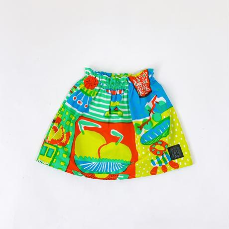 Bi TANSAN Short Skirt「Welcome Fruits」green