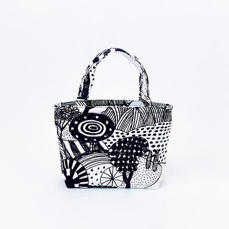 Mini tote Bag 「散歩道」black