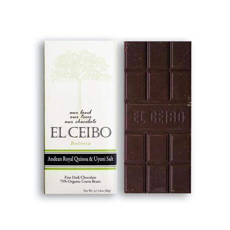 EL CEIBO Bolivia  キヌア・ウユニ塩湖産ソルト チョコレート 80g