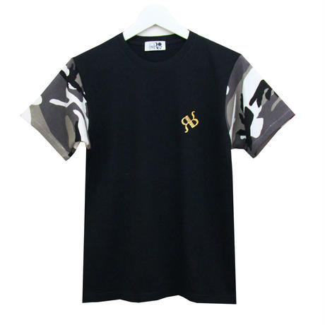 "RONER  camouflage sleeve T-shirt  BLACK   ""Special Edition"""
