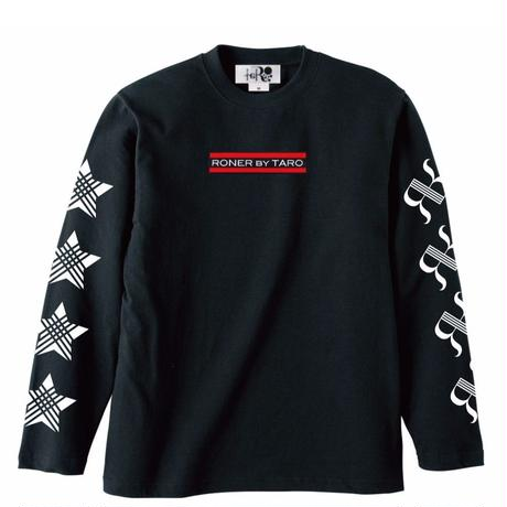 RONER Logo longsleeve T-shirt  BLACK / WHITE