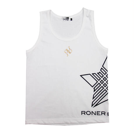 RONER NAKED STAR  Swarovski  Tank top WHITE