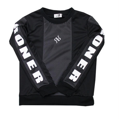 RONER  Mesh mix  Jersey pullover  【set up series No.002】
