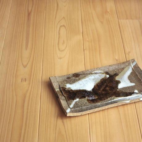 中里太郎右衛門窯 朝鮮唐津皿(柄杓がけ)