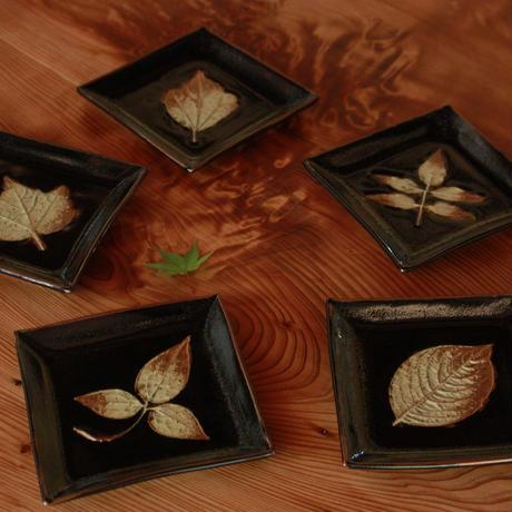 中里太郎右衛門窯 木の葉銘々皿(みずひきそう)