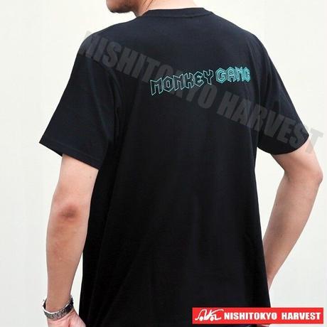 【5-1】MONKEY GANG モンキーシャドー  デザイン Tシャツ 【ブラック】