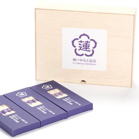 蓮オリジナル 播州古式特選 手延素麵(桐箱入 3個) #神戸みなと温泉 蓮