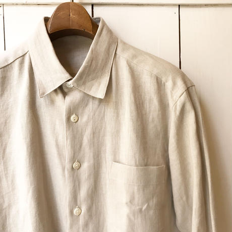shirohakaman LINEN REGULAR SHIRTS  BEIGE