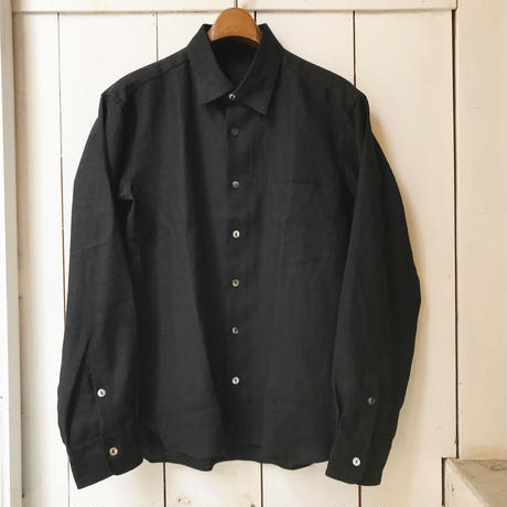 shirohakaman   LINEN  REGULAR SHIRTS  BLACK