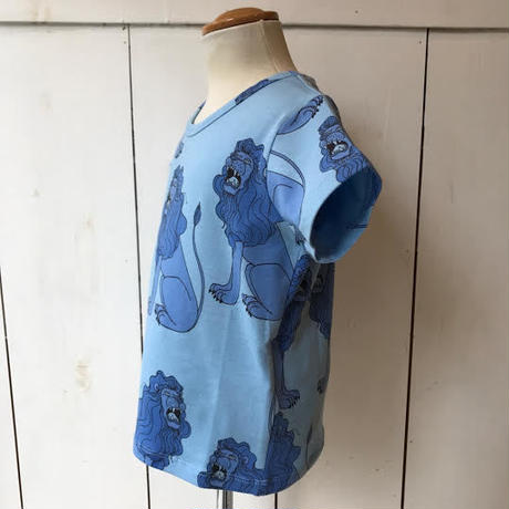 【mini rodini】 LION BLUE Tシャツ