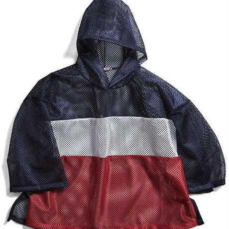 【is-ness】SWITCHING OVER MESH PONCHO