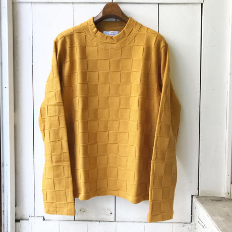 SHIROHAKAMAN     CHECKER MOCK NECK KNIT