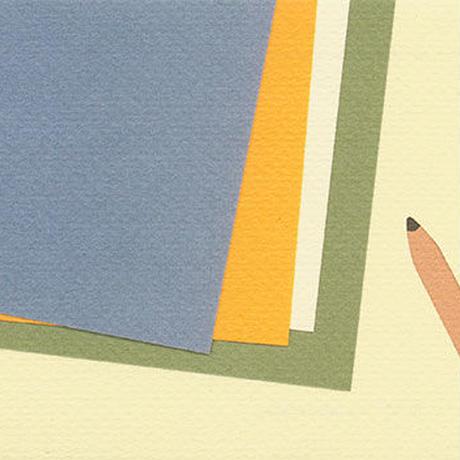 紙と鉛筆(絵はがき)
