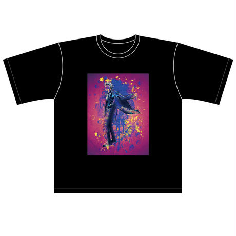 TAKAYUKI TAZAWA シルエットデザインBIG Tシャツ/BLACK