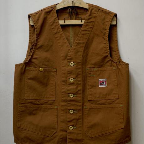 Foremen Vest (Brown Duck) / エンジニアベスト ブラウンダック