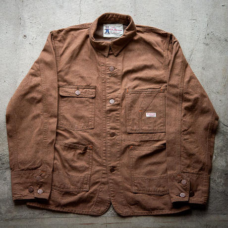 TCB TABBYS JACKET  10oz  TWISTED YARN BROWN DENIM