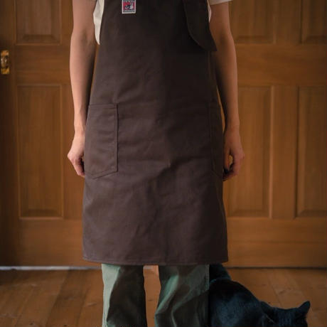 TCB WORK APRON  T/C TWILL BROWN