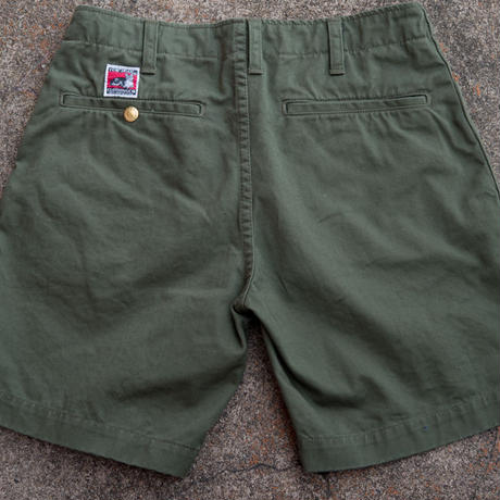 TCB CAT CUT SHORTS Olive Chino
