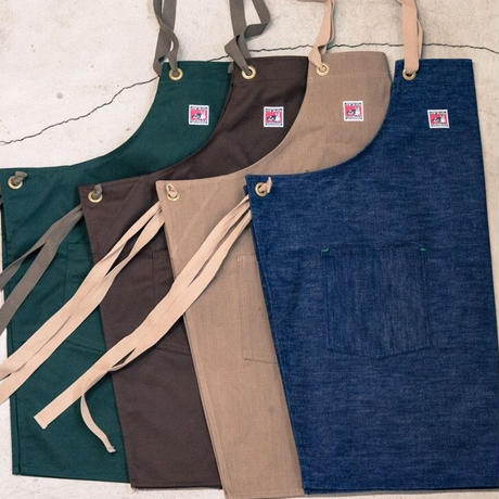 TCB WORK APRON  YARN DYEING  COLOR BROWN DENIM