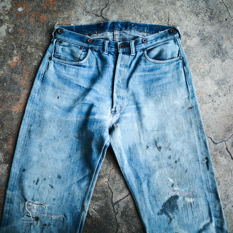 Two Cat's Waist Overall Natural Indigo