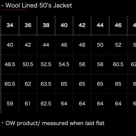 ■Pre-Order■ Wool-Lined 50's Jacket 2020A/W限定