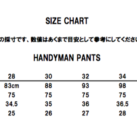 TCB HANDYMAN PANTS DENIM