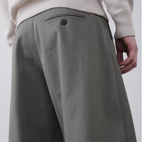 "☆  20SS / STUDIO NICHOLSON  /  ""BEN"" Peached Cotton Twill Volume Pleat Pant  (LEAD) ☆"