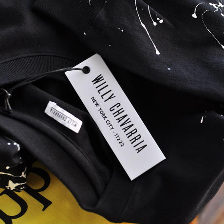 ☆ AW20 / WILLY CHAVARRIA  /  LS PAINT T  (BLACK) ☆