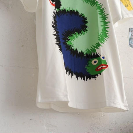 ★ 18SS NEW ! / HENRIK VIBSKOV - WING WANG MONSTER TEE (WHITE) ★