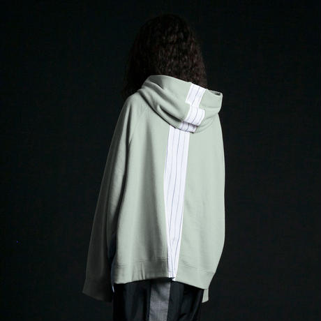 ★ 20SS /my beautiful landlet - cotton switching hoodie (OLIVE) ★
