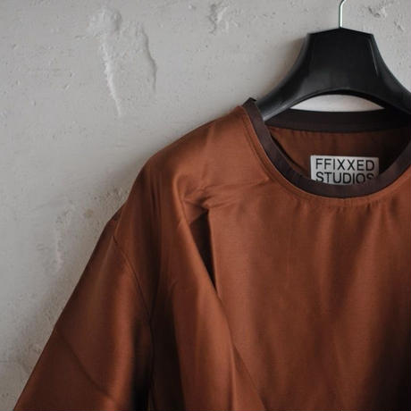 ★ FFIXXED STUDIOS / TUCK T SHIRT (BROWN) ★