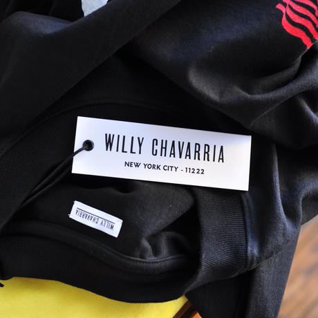 ☆ AW20 / WILLY CHAVARRIA  /  BAD RODANT RUFF NECK T  (BLACK) ☆