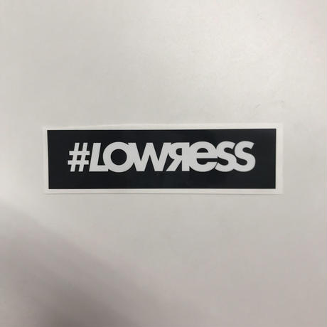 #LOWЯESS BOX Sticker Black [#stbk]