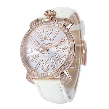 ガガミラノ    GAGA MILANO   腕時計    5色入り  男女兼用     勧め美品   送料無料   ダイヤ   金ボックス   WB1108