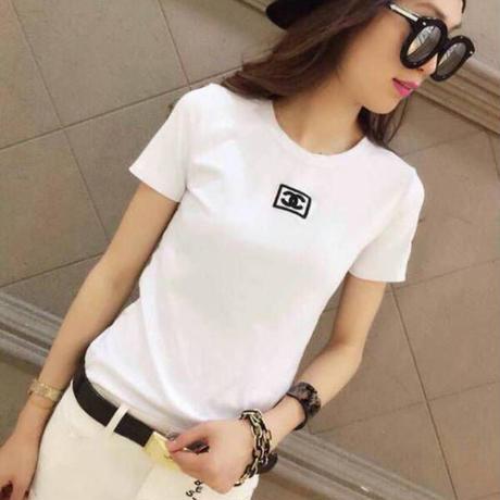 新入荷 シャネルCHANEL 大人気   柔らかい 勧め美品 上質 スウェット Tシャツ  XLM12673