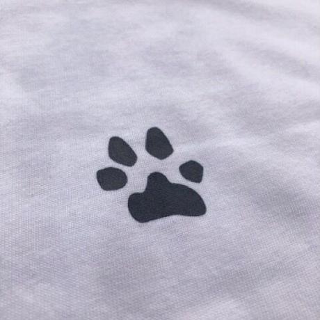 ビーグルイラストTシャツ:ラグラン配色七分袖