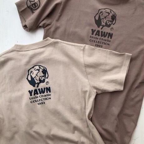 半袖ポケットTシャツ:ビーグルイラストYAWN(Mサイズのみ)