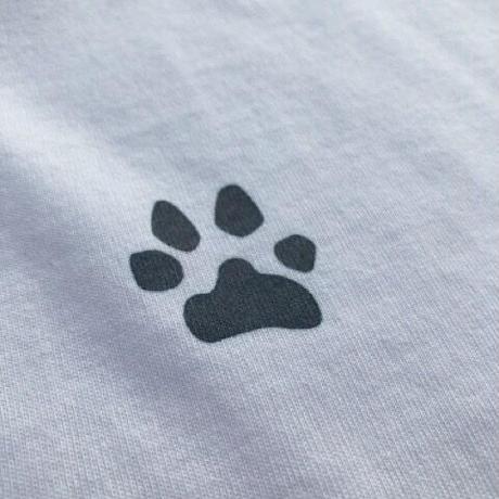 ビーグルイラスト長袖ポケットTシャツ:クレージー配色