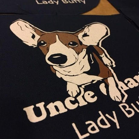 布ポーチM:ビーグル犬Lady Buffy PM012