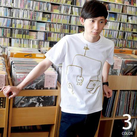 sp060tee-wh - モビモビ Tシャツ (ホワイト)-G- 半袖 白tee イラスト 落書き らくがき かわいい アメカジ カジュアル