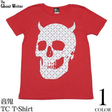 tgw036tc - 音鬼 TC Tシャツ - The Ghost Writer -G-( パンク ロックTシャツ スカル ドクロ カットソー レッド 赤 )