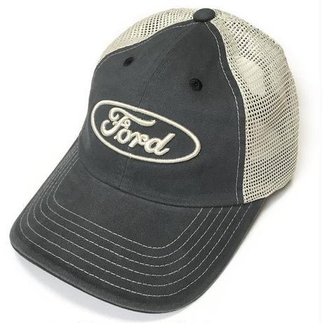 ford17718 - FORD ロゴ刺繍 メッシュキャップ (ネイビー×ベージュ) - フォード CAP 帽子 アメカジ カジュアルブランド ヴィンテージスタイル
