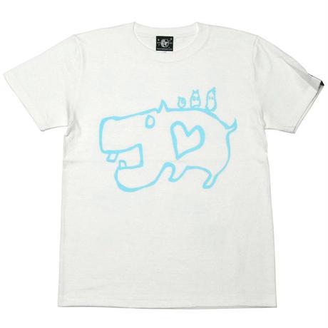 Sp053tee カバ Tシャツ ホワイト Bpgt G イラスト 落書き 動物 か