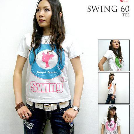 特別プライス☆ sp019tee - Swing 60 Tシャツ  -G-  ROCK ロック モッズ かわいい ターゲット 半袖Tシャツ