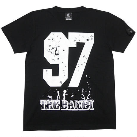 sp055tee-bk - bambi97 Tシャツ (ブラック))-G- 黒色 半袖 ロゴTシャツ ロックTee 春夏秋服コーデ 綿100%