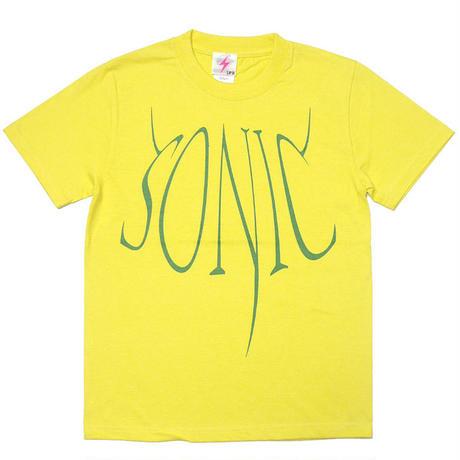 a02-tee-ye - SONIC(ソニック) Tシャツ (イエロー)-G- 半袖 ロックTシャツ ROCK 音速の 音楽 バンドT 黄色