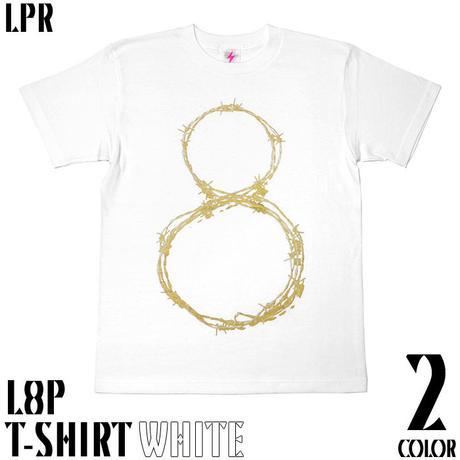 2週間セール!! a10tee - L8P Tシャツ (ホワイト&エメラルド) -G- エイト ループ LOOP パンク ロックTシャツ 有刺鉄線
