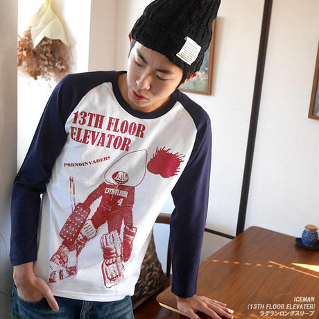 pi013rglt - Iceman (13th FLOOR ELEVATER) ラグラン ロングスリーブTシャツ -G- 長袖 ロンT コラボ パンク ロック