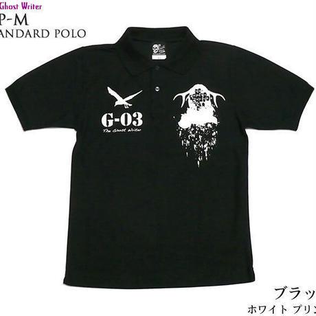 tgw038spo - GP-M スタンダード ポロシャツ-G- グラフィック パンク ロック ロゴ 半袖 メンズ レディース